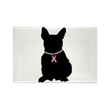 French Bulldog Breast Cancer Support Rectangle Mag