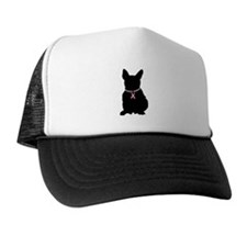 French Bulldog Breast Cancer Support Trucker Hat