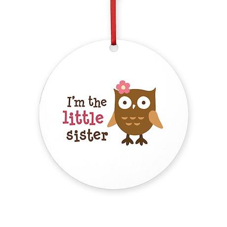 Little Sister - Mod Owl Ornament (Round)