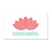 Namaste Lotus Car Magnet 20 x 12