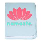 Namaste Lotus baby blanket