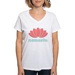 Namaste Lotus Women's V-Neck T-Shirt