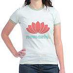 Namaste Lotus Jr. Ringer T-Shirt