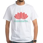 Namaste Lotus White T-Shirt