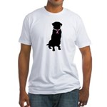 Golden Retriever Breast Cancer Support Fitted T-Sh