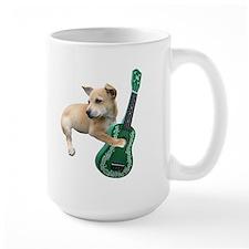 Dog Playing Ukulele Mug