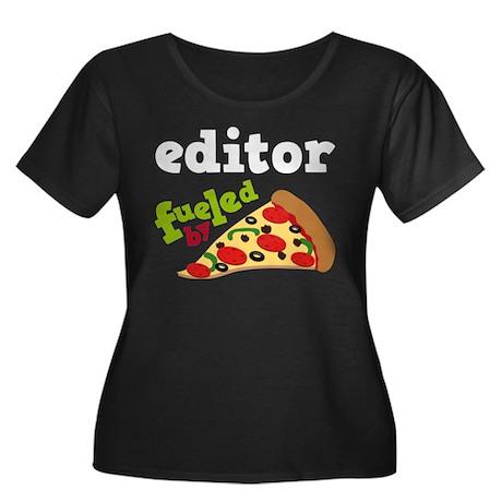 Editor Funny Pizza Women's Plus Size Scoop Neck Da