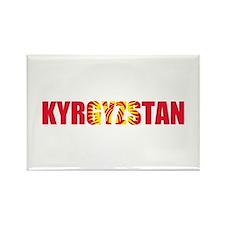 Kyrgyzstan Rectangle Magnet