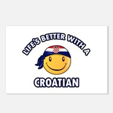 Cute Croatian designs Postcards (Package of 8)