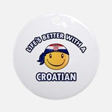 Cute Croatian designs Ornament (Round)