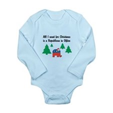 All I want for X-Mas Long Sleeve Infant Bodysuit