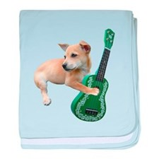 Dog Playing Ukulele baby blanket