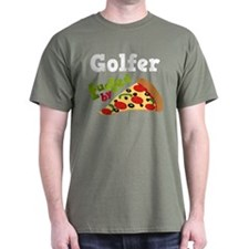 Golfer Funny Pizza T-Shirt