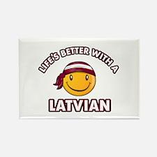 Cute Latvian design Rectangle Magnet