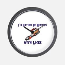 HUNTING BOAR WITH LOCKE Wall Clock