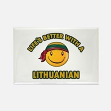 Cute Lithuanian design Rectangle Magnet