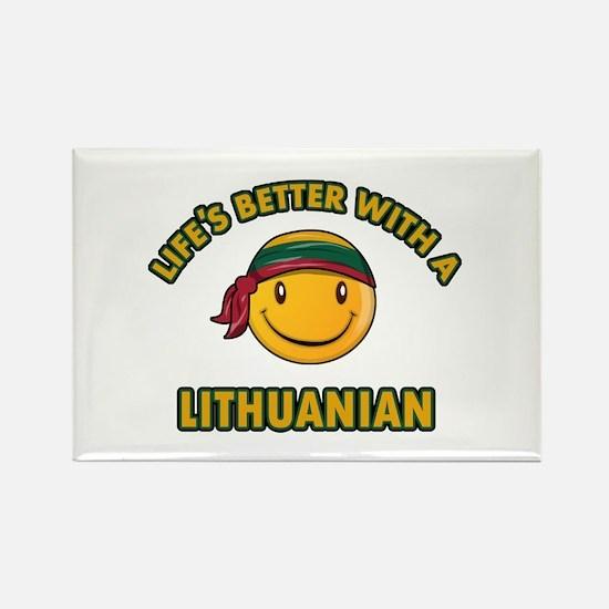Cute Lithuanian design Rectangle Magnet