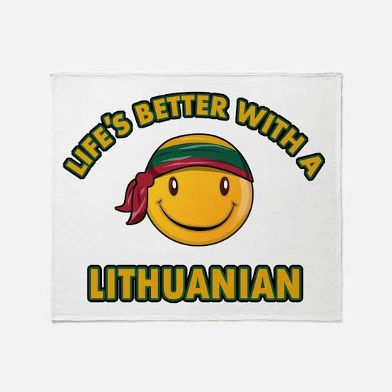 Cute Lithuanian design Throw Blanket