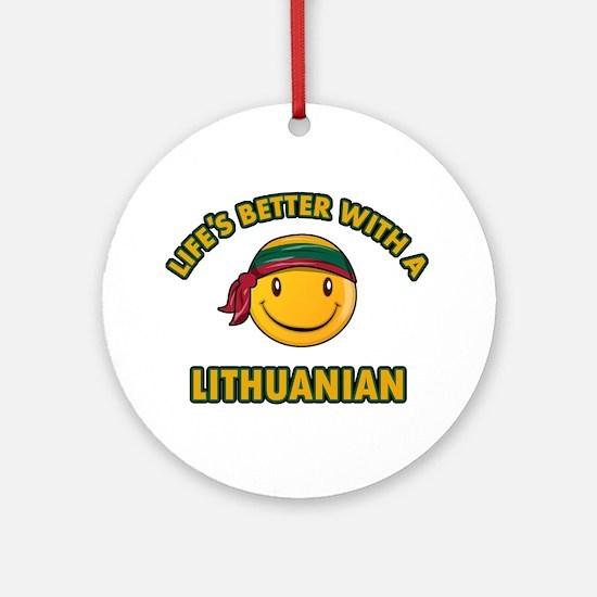 Cute Lithuanian design Ornament (Round)