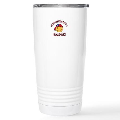 Cute Samoan design Stainless Steel Travel Mug