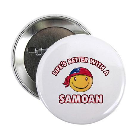 "Cute Samoan design 2.25"" Button (100 pack)"