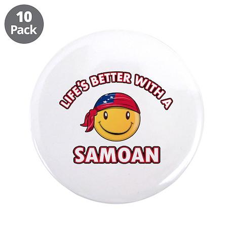 "Cute Samoan design 3.5"" Button (10 pack)"