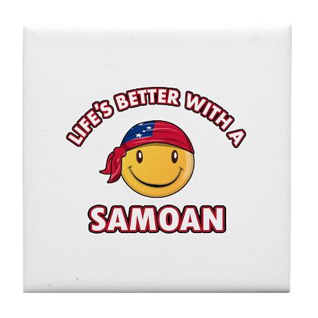 Cute Samoan design Tile Coaster