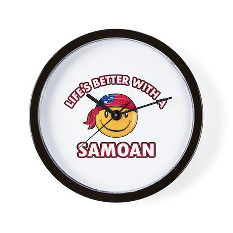 Cute Samoan design Wall Clock