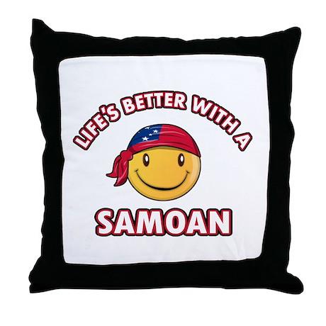 Cute Samoan design Throw Pillow