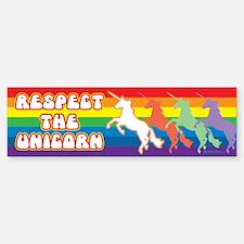 Respect the Unicorn - Bumper Bumper Bumper Sticker