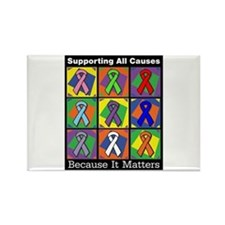 Supporting All Causes Rectangle Magnet (10 pack)