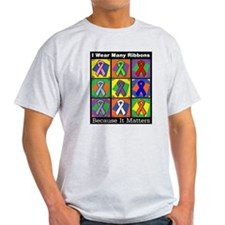 Ribbons Because It Matters T-Shirt
