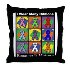 Ribbons Because It Matters Throw Pillow