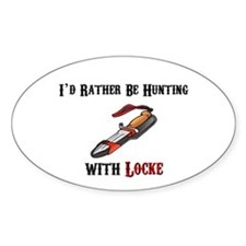 HUNTING WITH LOCKE Oval Decal