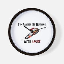 HUNTING WITH LOCKE Wall Clock