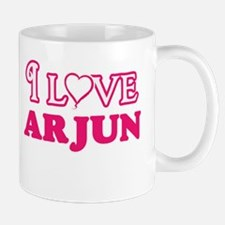 I Love Arjun Mugs