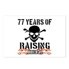 77 years of raising hell Postcards (Package of 8)