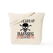 86 years of raising hell Tote Bag