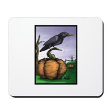 Halloween Crow Mousepad