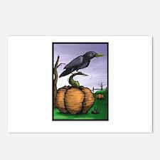 Halloween Crow Postcards (Package of 8)