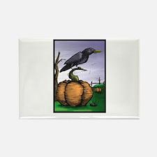 Halloween Crow Rectangle Magnet