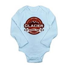 Glacier Crimson Long Sleeve Infant Bodysuit