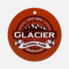 Glacier Crimson Ornament (Round)