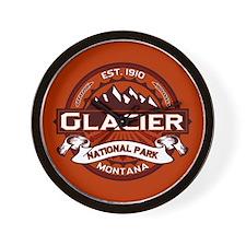 Glacier Crimson Wall Clock