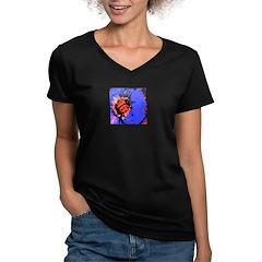 Lady Bug Women's V-Neck Dark T-Shirt