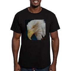 Men's Bald Eagle Fitted T-Shirt (dark)