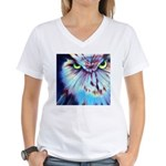 Night Owl Women's V-Neck T-Shirt