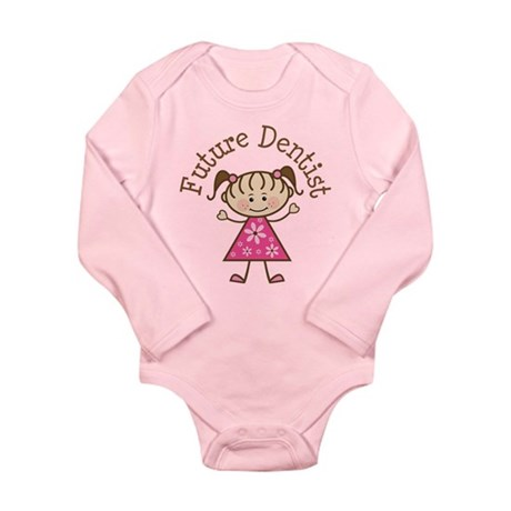 Future Dentist Girl Long Sleeve Infant Bodysuit