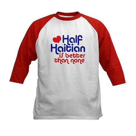 Half Haitian Kids Baseball Jersey