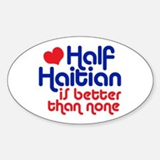 Half Haitian Decal